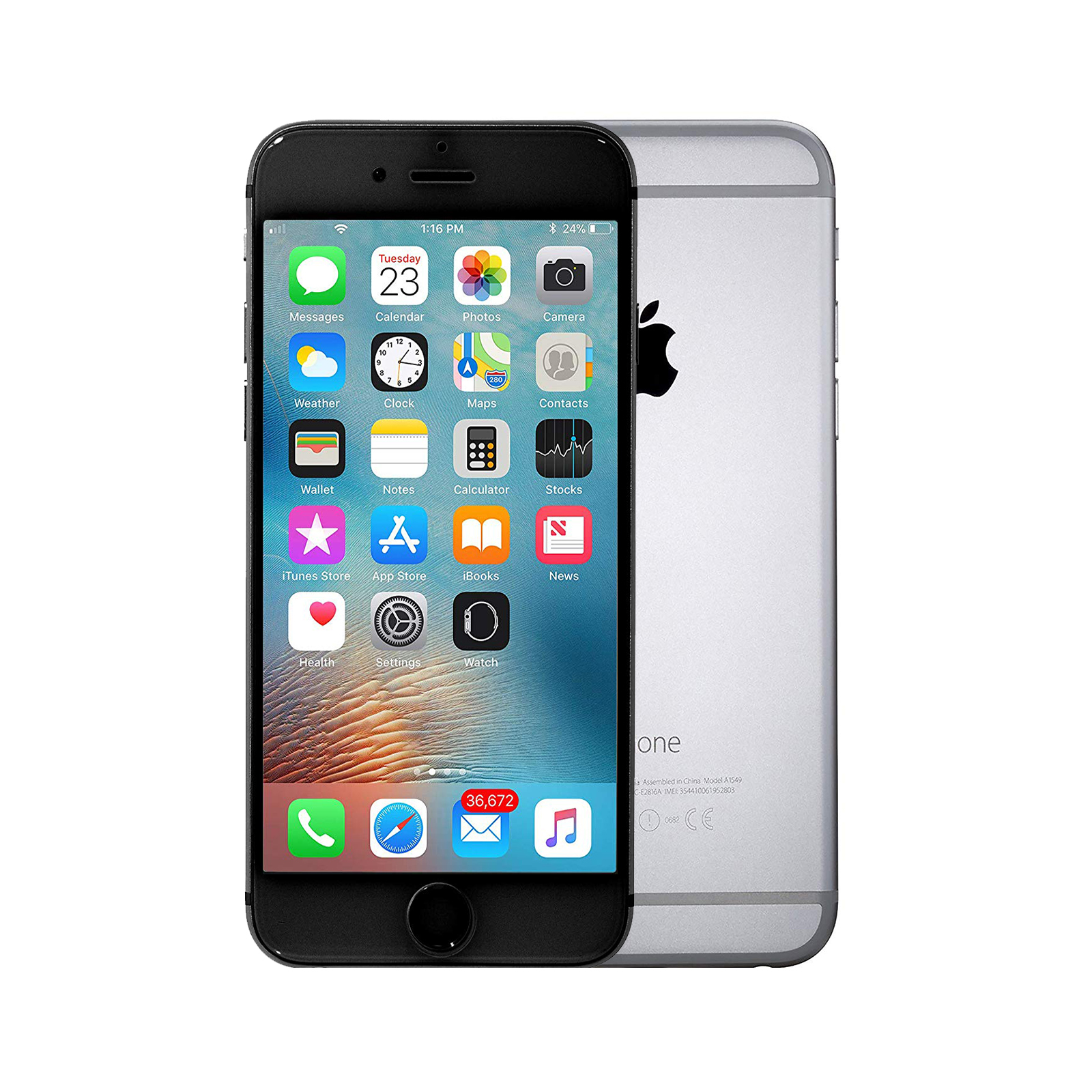 Apple iPhone 6 Plus [64GB] [Space Grey] [As New] [6M]