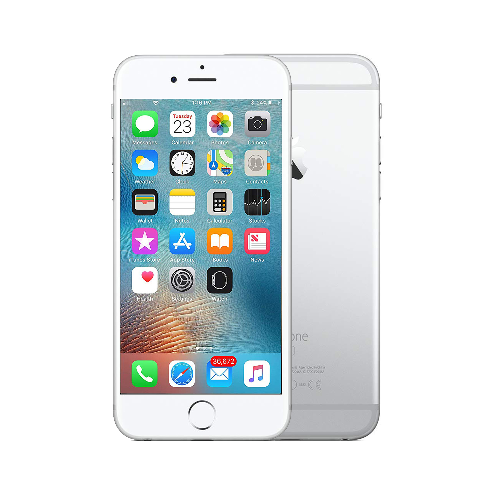 Apple iPhone 6s Plus [64GB] [Silver] [As New] [6M]